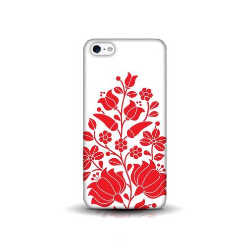 Szilikon mobiltok - Kalocsai mintás - APPLE IPhone SE