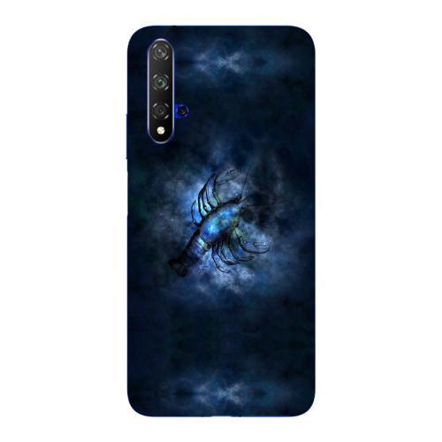 Szilikon mobiltok - Horoszkóp, Rák mintás - HUAWEI nova 5T