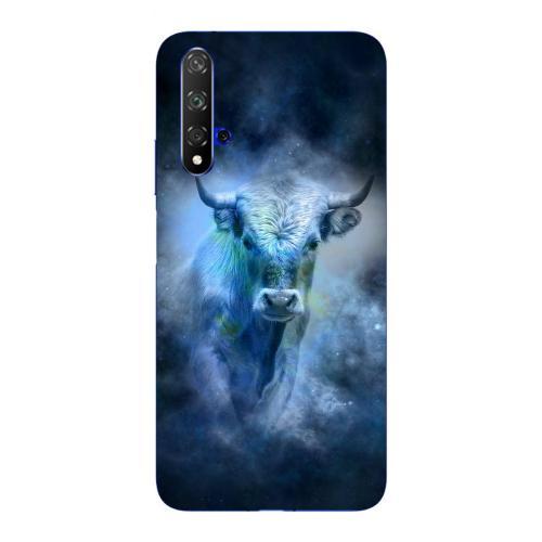 Szilikon mobiltok - Horoszkóp, Bika mintás - HUAWEI nova 5T