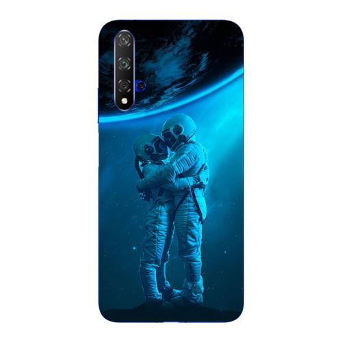Szilikon mobiltok - Szerelmes űrhajós pár mintás - HUAWEI nova 5T
