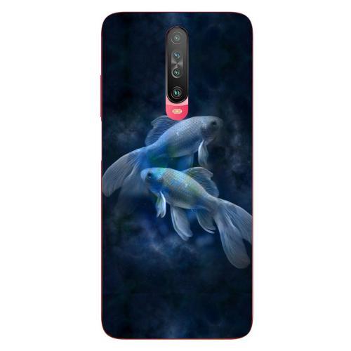 Szilikon mobiltok - Horoszkóp, Halak mintás - Xiaomi Poco X2