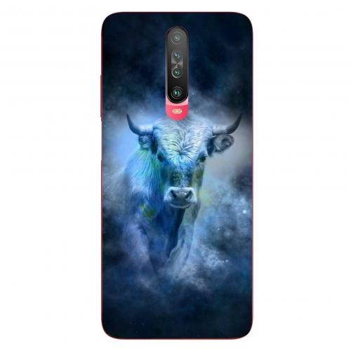 Szilikon mobiltok - Horoszkóp, Bika mintás - Xiaomi Poco X2