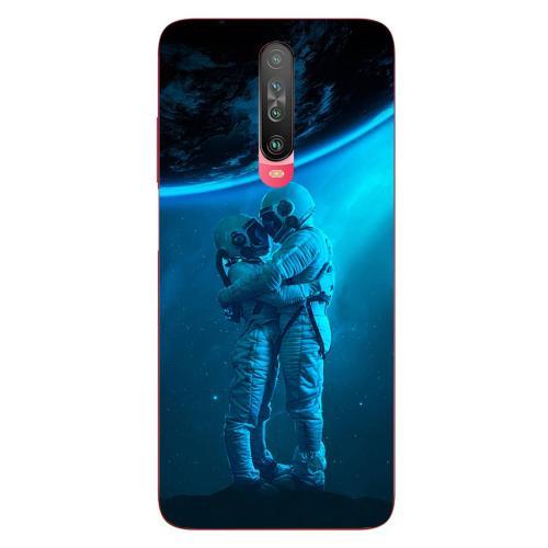 Szilikon mobiltok - Szerelmes űrhajós pár mintás - Xiaomi Poco X2