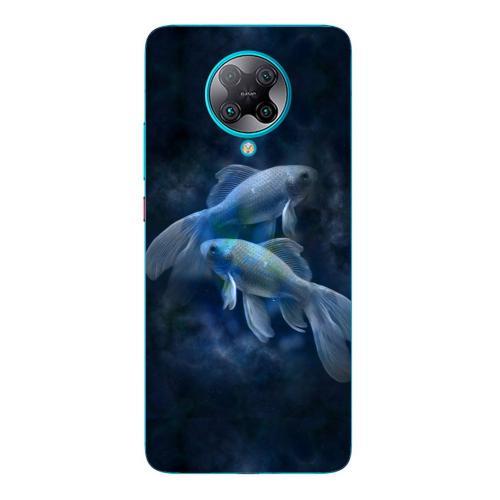 Szilikon mobiltok - Horoszkóp, Halak mintás - Xiaomi Poco F2 Pro