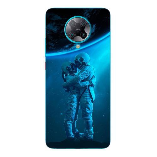 Szilikon mobiltok - Szerelmes űrhajós pár mintás - Xiaomi Poco F2 Pro