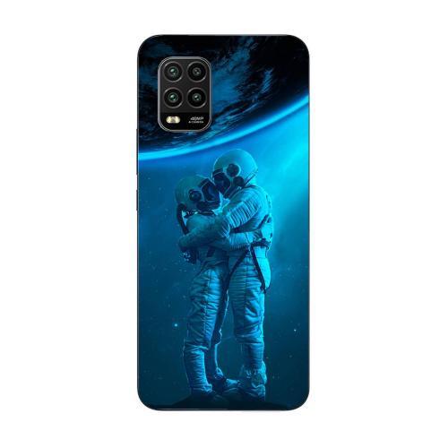Szilikon mobiltok - Szerelmes űrhajós pár mintás - Xiaomi Mi 10 Youth 5G