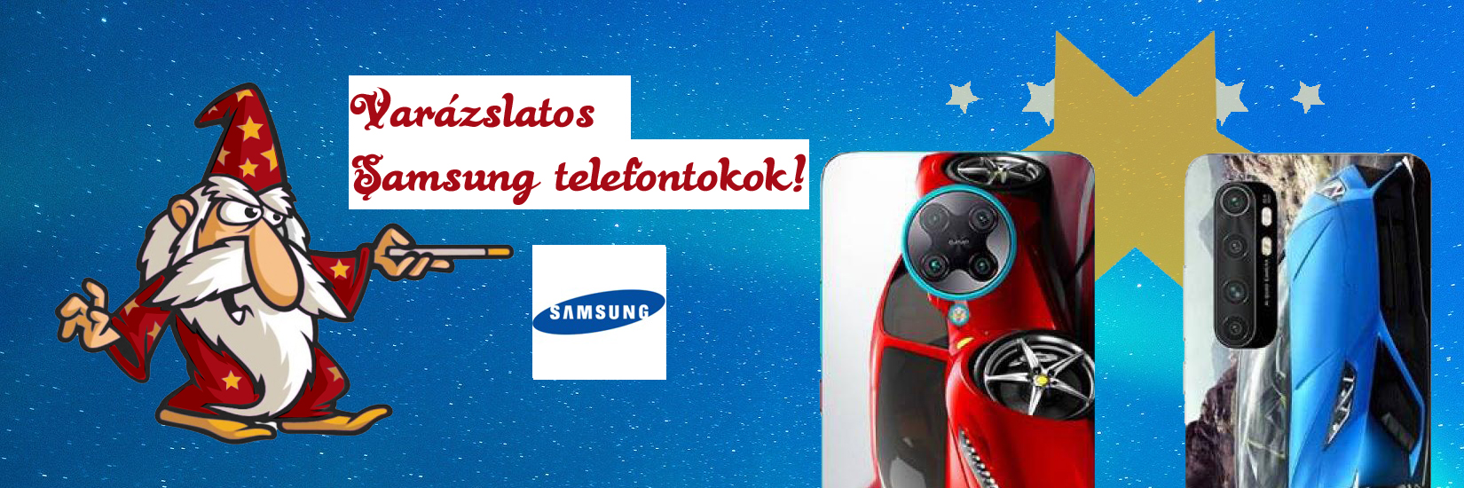 Samsung egyedi tokok a tokvarázsló választékban!